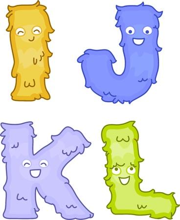 Illustration of Plush Toys Shaped Like Letters Stock Illustration - 10433002