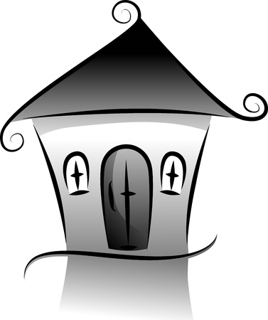 bungalow: Illustration Featuring the Silhouette of a House