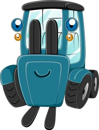 forklift truck: Illustration of a Happy Forklift