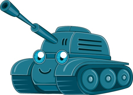 battle tank: Illustration of a Military Tank Stock Photo
