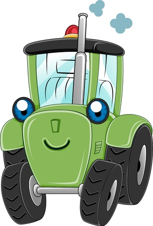 Illustration of a Happy Tractor Stock Illustration - 10560199