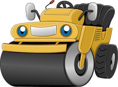 civil construction: Illustration of a Happy Vibro Roller Stock Photo