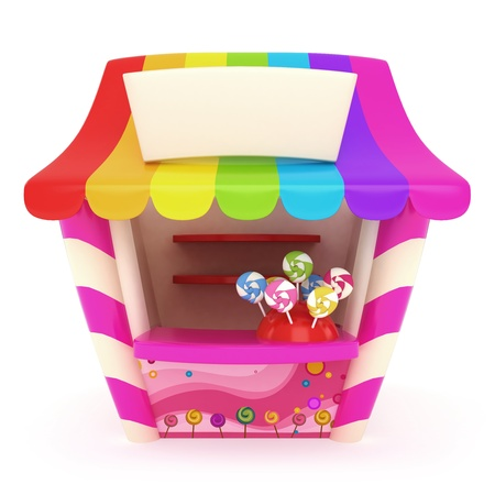 3D Illustration of a Candy Store illustration