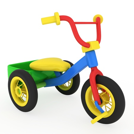 tricycle: 3D Illustration of a Trike