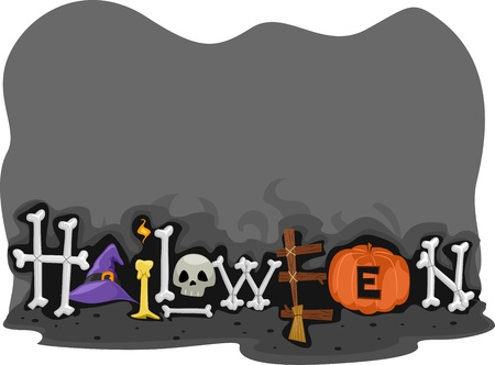 Footer Design with a Halloween Theme Stock Photo - 10823886