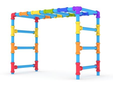 3D Illustration of a Monkey Bar Stock Illustration - 10900755