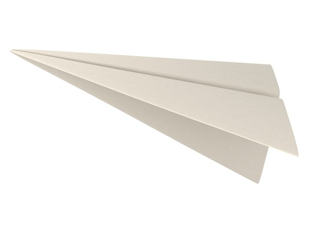 paper arts and crafts: 3D Illustration of a Paper Plane
