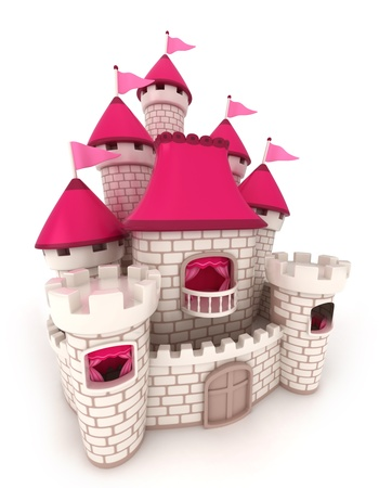 grand palace: 3D Illustration of a Beautiful Castle Stock Photo