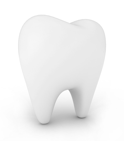 3D Illustration of a Tooth on White Stock Illustration - 10901567