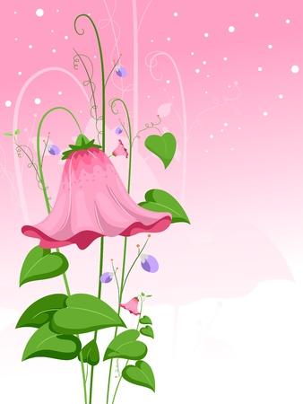 Illustration of a Giant Pink Flower illustration
