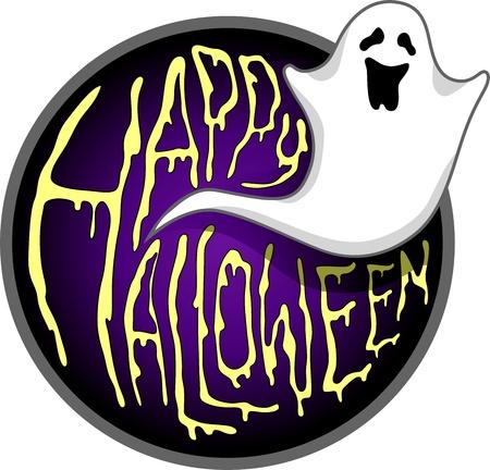 poltergeist: Illustration of a Halloween Ghost