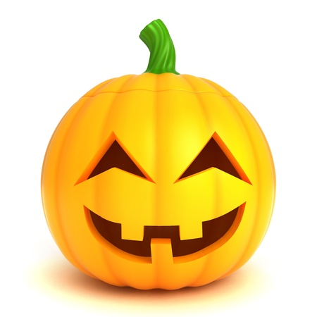 3D Illustration of a Jack-o-Lantern Stock Photo