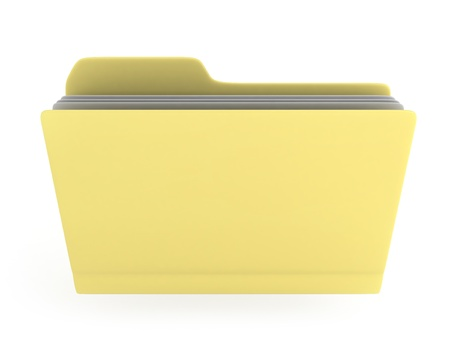 dossier: 3D Illustration of a Folder with Files