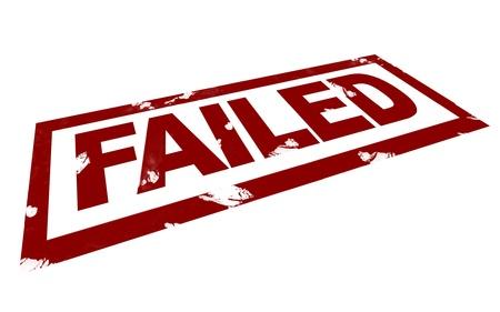 failed: 3D Illustration of a Failed Mark