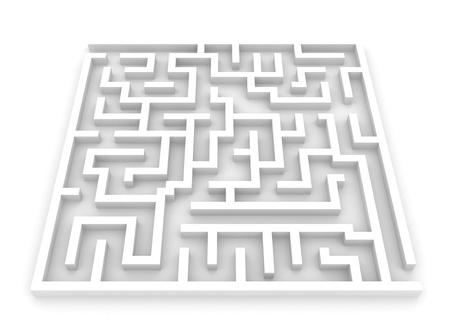 labyrinth: 3D Illustration of a Maze