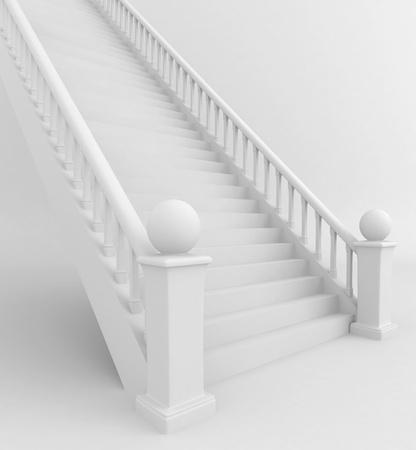 bajando escaleras: Ilustración 3D de una escalera