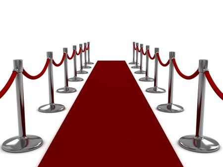 3D Illustration of a Red Carpet Scene illustration