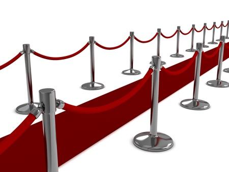 famosos: Ilustración 3D de una escena de Red Carpet Foto de archivo