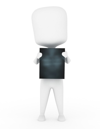 diagnostic: 3D Illustration of a Man Holding an X-Ray Film Stock Photo