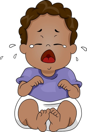 to cry: Illustration of a Baby Crying