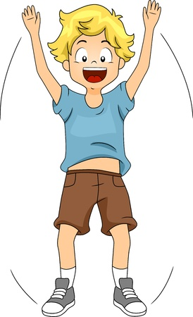 jacks: Illustration of a Kid Doing Jumping Jacks Stock Photo