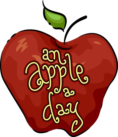 Icon Illustration Featuring an Apple illustration