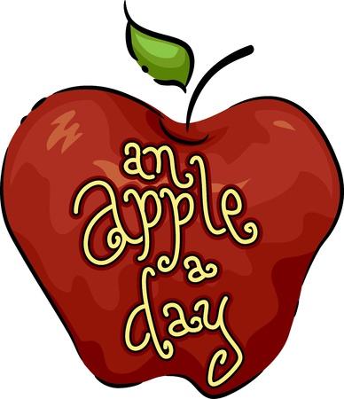 arts symbols: Icon Illustration Featuring an Apple