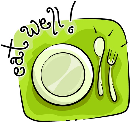tableware: Icon Illustration Featuring Tableware Stock Photo