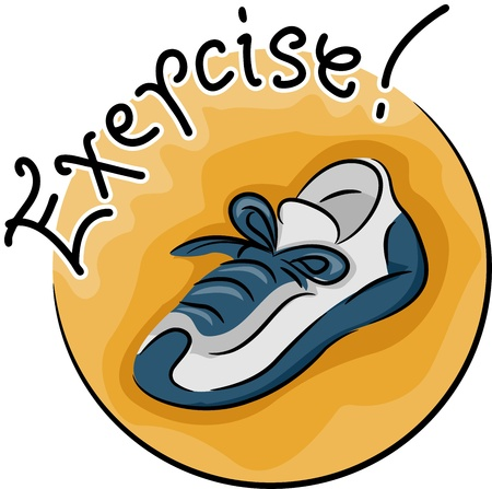 healthy exercise: Icon Illustration Featuring a Sneaker Stock Photo