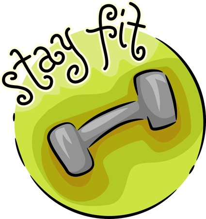 physical fitness: Icon Illustration Featuring a Dumbbell
