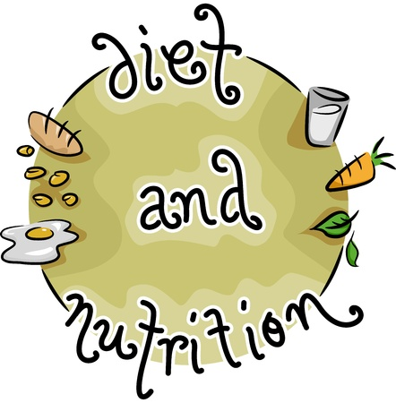 balanced diet: Icon Illustration Representing Diet and Nutrition