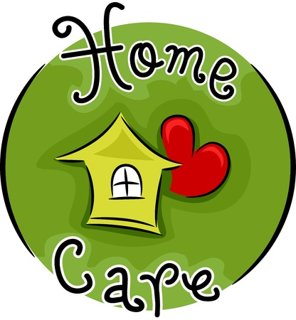 in home care: Icona Illustrazione Rappresentare Home Care