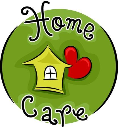 orden y limpieza: Icono de ilustraci�n que representa Cuidados en el hogar