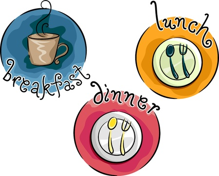 mealtime: Icon Illustration Representing Meals