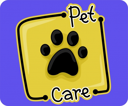 pet: Icon Illustration Representing Pet Care Stock Photo