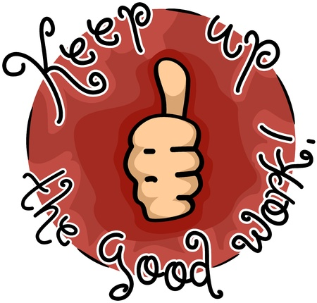 commendation: Icon Illustration Featuring a Thumbs Up Stock Photo