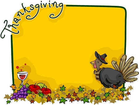 Background Illustration with a Thanksgiving Theme illustration