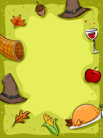 related: Background Illustration Featuring Thanksgiving Related Items Stock Photo