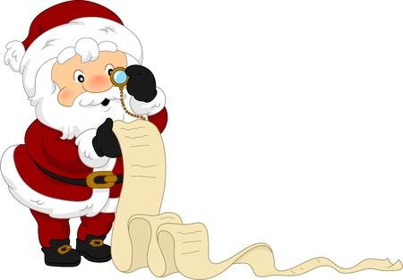 illustration of santas christmas list stock photo picture and royalty free image image 11378253