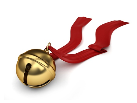 christmas sleigh: 3D Illustration of a Sleigh bell