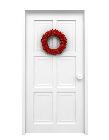 3D Illustration of a Christmas Wreath illustration