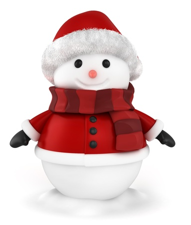3D Illustration of a Happy Snowman Stock Illustration - 11467564