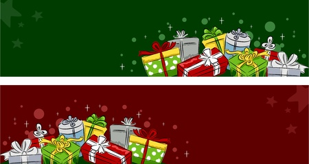 Header Illustration Featuring Christmas Gifts illustration