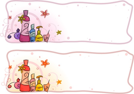 art blog: Header Illustration Featuring Perfumes