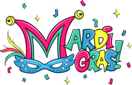 mardi gras: Illustrazione di un Mardi Gras Mask