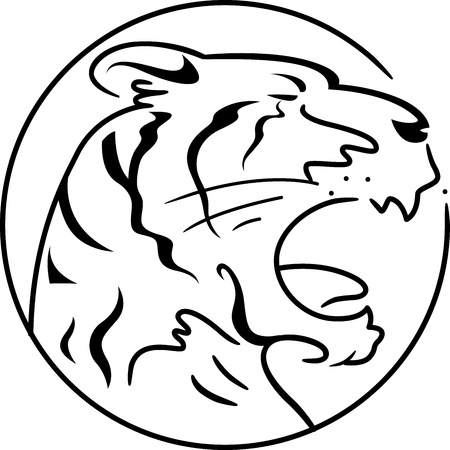 Illustration Symbolizing the Year of the Tiger illustration