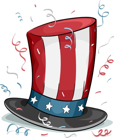 presidents' day: Illustration of a Top Hat Representing US Presidents Day
