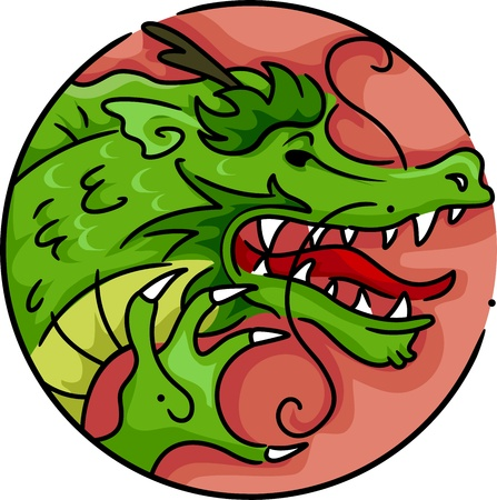 Illustration Representing the Year of the Dragon illustration