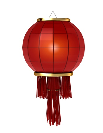 festival occasion: 3D Illustration of a Chinese Lantern