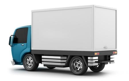 Illustration 3D d'un camion de livraison